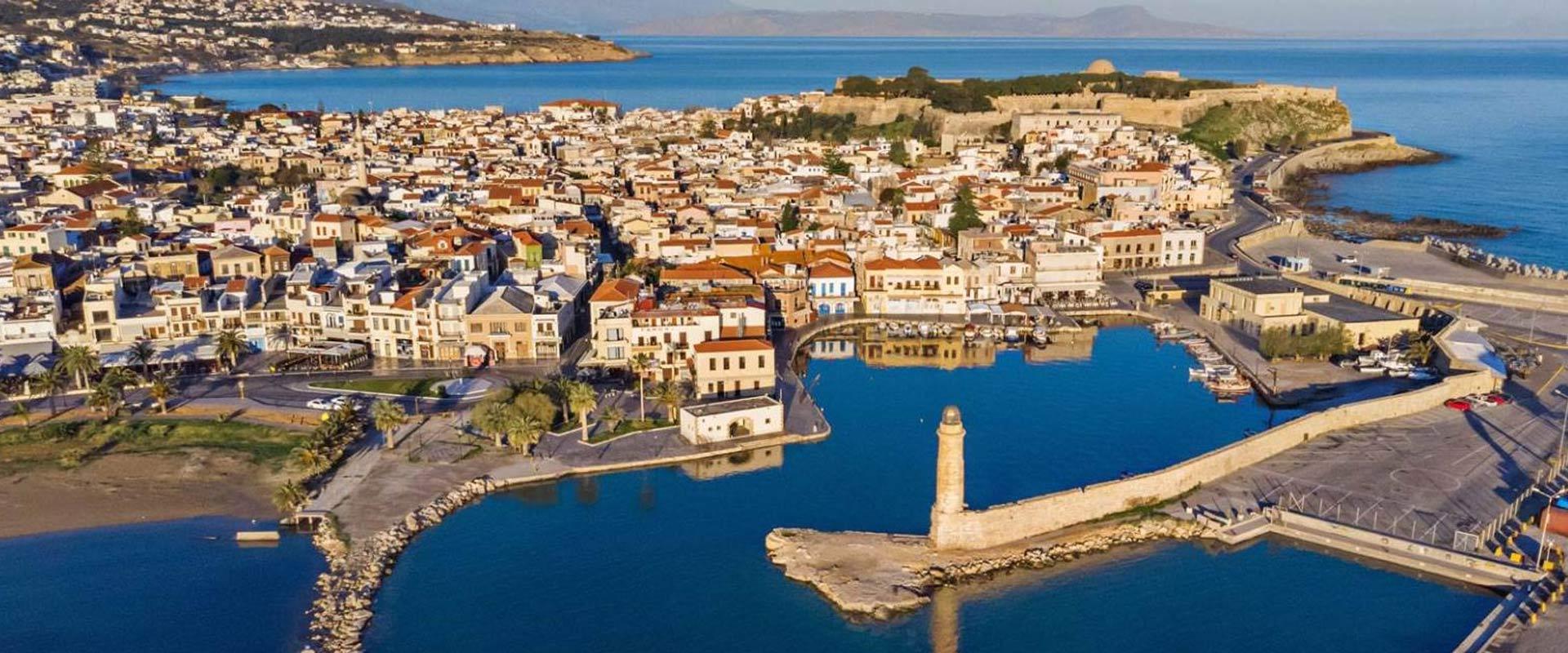 Rethymo city greece crete