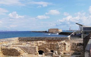 Heraklion historical building Town forticiation and castle