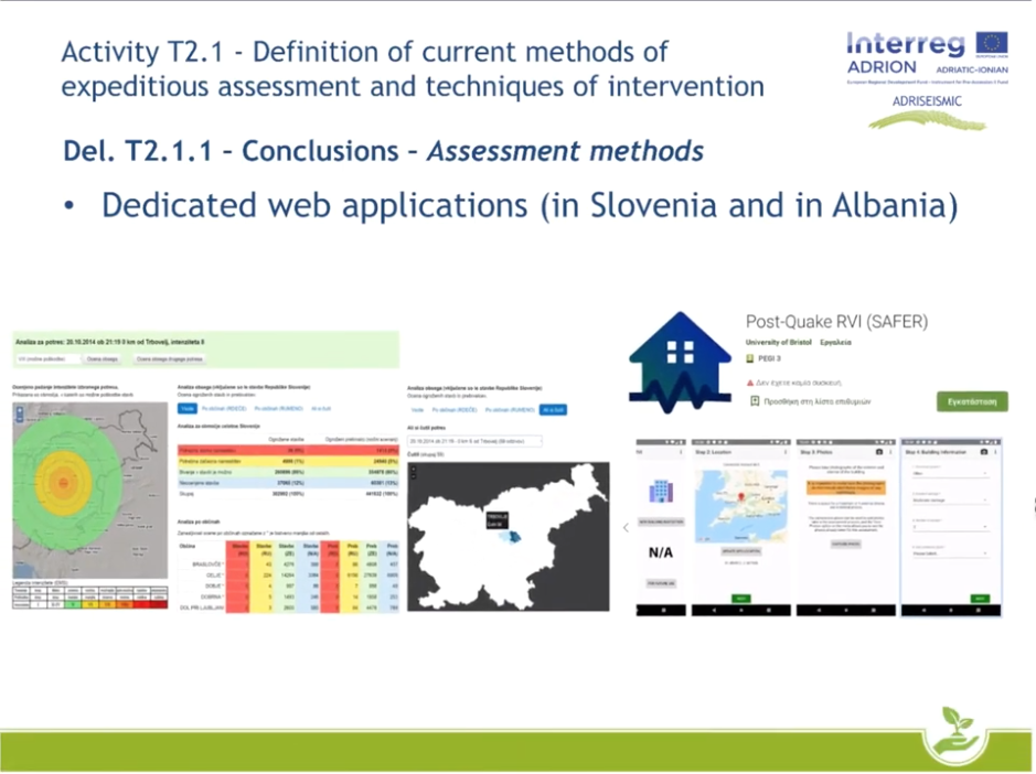Adriseismic deliverables Unibo wpt2 video presentation