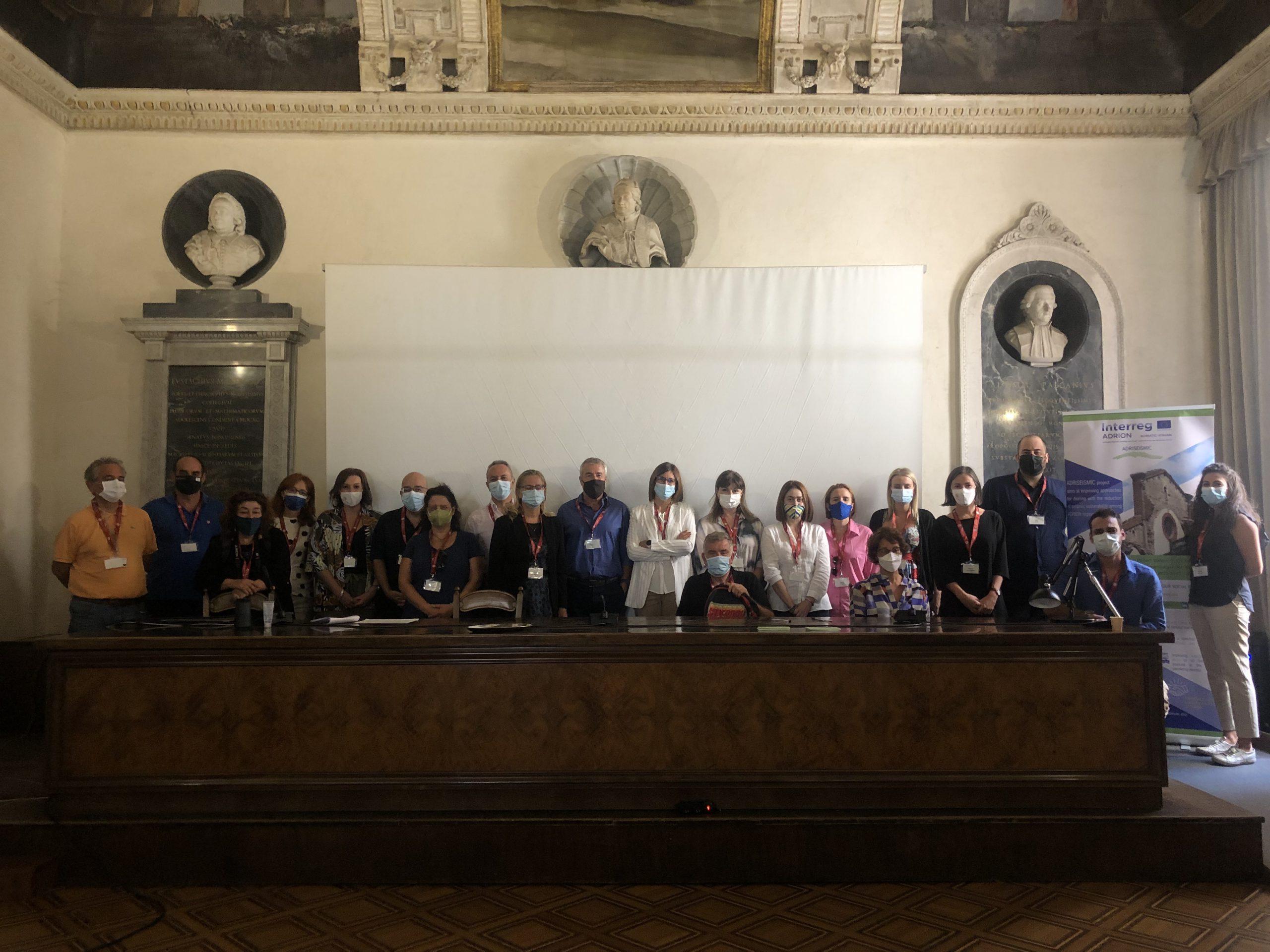 Italian study visit palazzo poggi sala ulisse bologna adriseismic